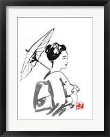 Framed Geisha And Umbrella 2