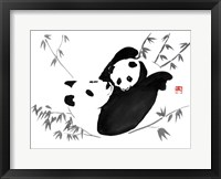Framed Panda Family