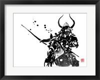 Framed Samurai On Horse