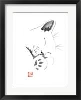 Framed Chat Blanc