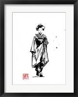 Framed Geisha Walking
