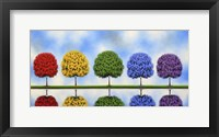 Framed Rainbow Trees