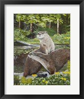 Framed Two Otters