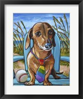 Framed Dachshund with Tie