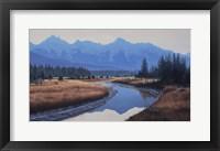 Framed Rocky Mountain Dawn