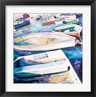 Framed Rockport Boats