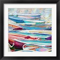 Framed Row Boats III