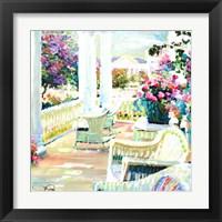 Framed Wicker Porch