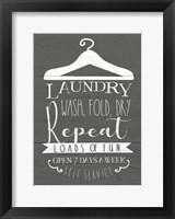 Framed Laundry Sign