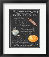 Framed Homemade Bread Recipe