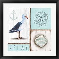 Framed Nautical Relax