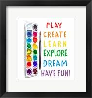 Framed Play, Learn, Create
