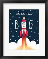 Framed Dream Big Rocket