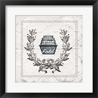 Wash and Fold Framed Print