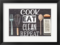 Framed Cook Eat Clean Repeat