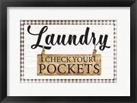 Framed Check Your Pockets