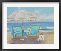 Framed Striped Beach Chairs