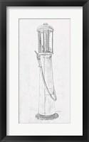 Framed Fuel Station Sketch No. 1