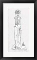 Framed Fuel Station Sketch No. 2