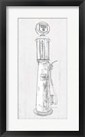 Framed Fuel Station Sketch No. 3