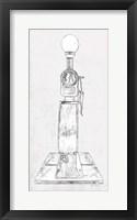 Framed Fuel Station Sketch No. 4
