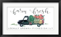 Framed Farm Fresh Produce Truck