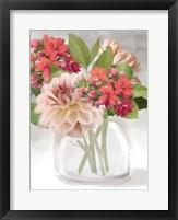 Framed Dahlia Bouquet