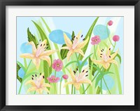Framed Yellow Lilies