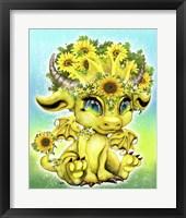 Framed Sunflower Lil DragonZ