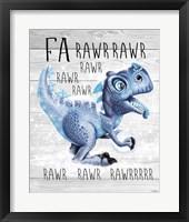 Framed Fa Rawr Rawr T Rex