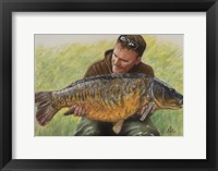 Framed Fisherman and Mirror Carp