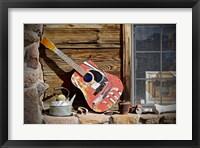 Framed Guitar in the Window