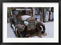 Framed Vintage Gas Station and Model T