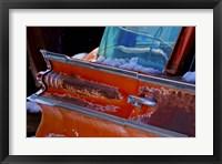 Framed Vintage Red Tail Wing