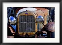 Framed Vintage Snowy Model T 2