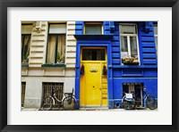 Framed Yellow Door with Bikes