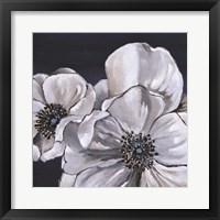 Framed Blue & White Floral I