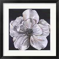 Framed Blue & White Floral III