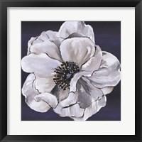 Framed Blue & White Floral IV