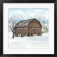 Framed Winter Barn Quilt I