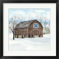 Framed Winter Barn Quilt III