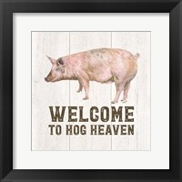 Framed Farm Life VII-Hog Heaven