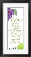 Framed Fruit of the Spirit vertical IV-Wisdom