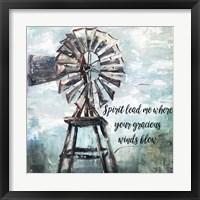 Framed Primitive Windmill