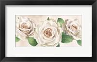 Framed Ivory Roses Landscape I