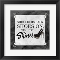 Fashion Humor III-Shoulders Back Framed Print