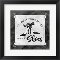 Fashion Humor IV-No Great Story Framed Print