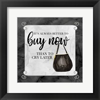 Fashion Humor VIII-Buy Now Framed Print