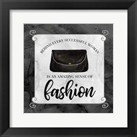 Fashion Humor IX-Sense of Fashion Framed Print