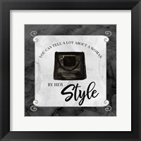 Framed Fashion Humor XII-By Her Style